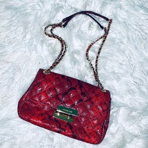 Michael Kors Python Chain Shoulder Bag